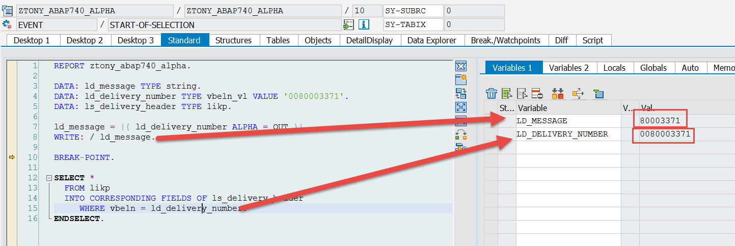 ABAP 7.4 ALPHA String Bult-In Func